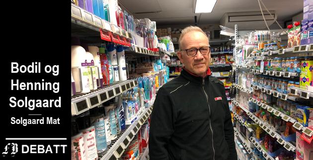 Henning Solgaard i butikken som ekteparet helt siden 2007 har ønsket å utvide for å få en butikk med det sortimentet kundene forventer.