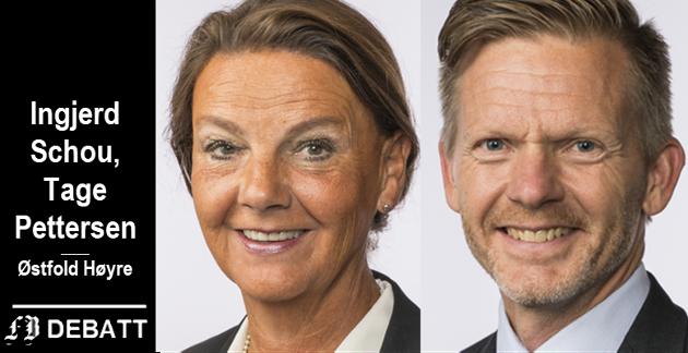 Schou og Pettersen: – Pengene som Senterpartiet har satt av til politidistriktene er stort sett bundet opp i at de skal gjenåpne 1 av 6 nedlagte politikontorer. For øvrig et løftebrudd fra partiet som har påstått de skal reversere hele reformen.