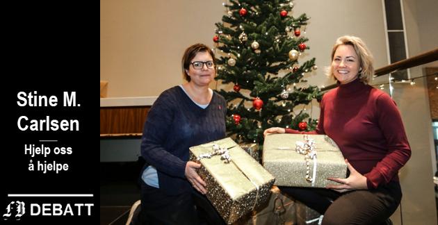 Hotel Quality i Fredrikstad er blant stedene som har et juletre der givere kan legge pakker. Stine Carlsen (til venstre) og hotelldirektør Sabina Marika Widenqvist har i en tidligere FB-artikkel fortalt at de gleder seg over julegavene som strømmer inn.