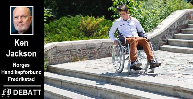 – Vi lever i et samfunn der folk enten overser, eller simpelthen ikke ser, at funksjonshemmede kjemper en daglig kamp for inkludering, for menneskerettighetene sine, for likestilling og likeverd, skriver Ken Jackson.