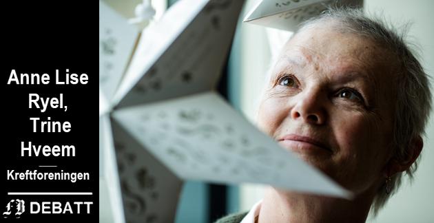 Kjersti Rylandsholm frontet i fjor Kreftforeningens julestjerneaksjon. I år går hun en bedre jul i møte. Det er hennes tur til å sende en stjerne.