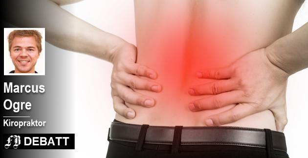 «Ryggsmerter er helt normalt og ikke tegn på syk, svak eller dårlig rygg», skrev Marcus Ogre i kronikken som innledet debatten med røntgenlege Svein-Dag Eggesbø.