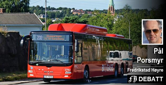 Pål Porsmyr, Høyre: Så kjære ordfører i Fredrikstad, hvordan skal du og dine meningsfeller rent praktisk skal løse dette med at alle skal få gratis buss overalt, når Nedre Glomma og Fredrikstad har et av landets dårligste kollektivtilbud?