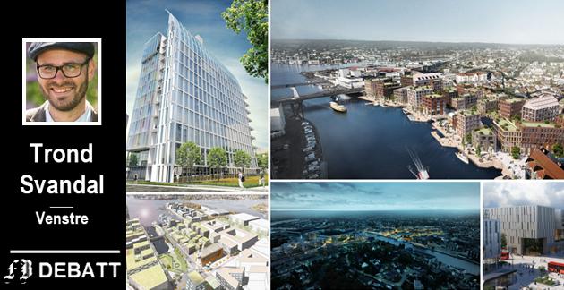 Mye å ta i for en byarkitekt: Cicignon park (oppe til venstre), Trosvikstranda (oppe til høyre), Jotne (nede til venstre), Værste (midten nede) og Grønli stasjon (nede til høyre) er fem virkelig store prosjekter i Fredrikstad de kommende årene.