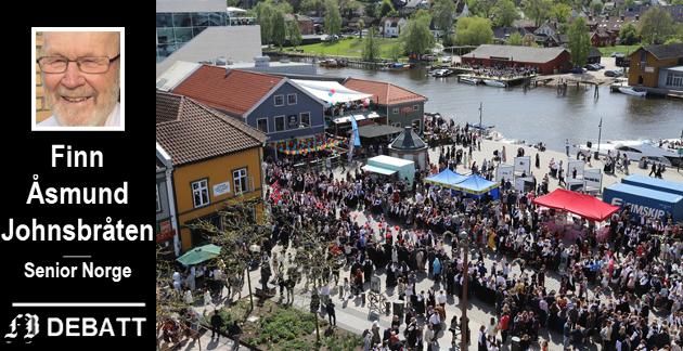 En flott 17. mai i Fredrikstad, god oppslutning og fornøyde deltagere og publikum.  – La oss verne om våre verdier! er oppfordringen fra Johnsbråten.