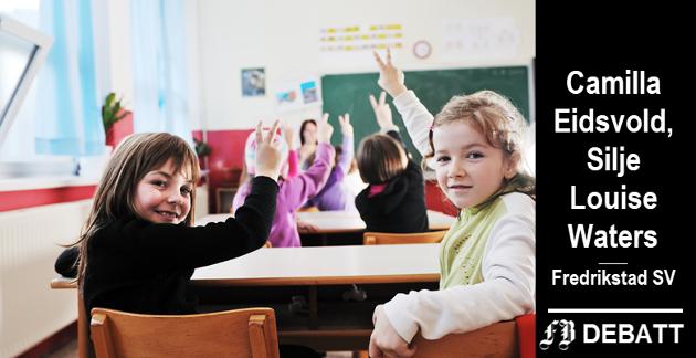 – Med heldagsskolen er man ferdig med skolen når man går hjem fra skolen, skriver Eidsvold og Waters, og mener ungdoms stress- og utslitthetsproblem dermed er løst.