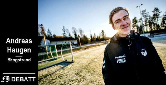 – Jeg skal selv gå i paraden, for fotballen, idretten og kjærligheten, skriver Andreas Haugen.