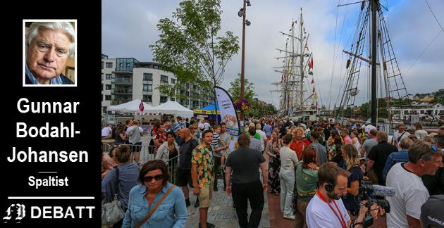 Verdt pengene? Folkeliv til tusen, men ikke alle elsker Tall Ships Races, minner Gunnar Bodahl-Johansen oss om.