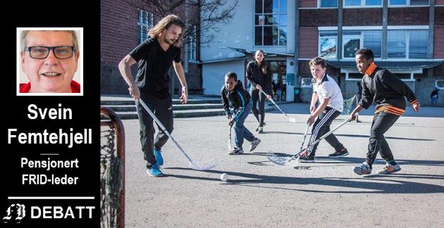 Fredrikstad-idretten har flere tiltak som fremmer inkludering av innvandrerbarn.  Svein Femtehjell advarer mot manglende forståelse i kommunen, både hos administrasjon og politikere. Bilde fra Trosvik skole.