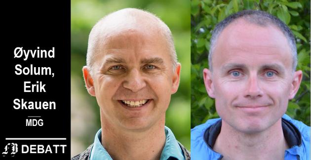 Øyvind Solum og Erik Skauen, MDG-kandidater i Viken og Fredrikstad