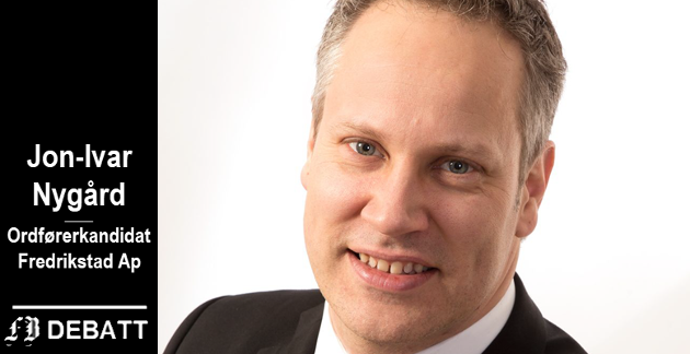 Jon-Ivar Nygård, ordfører i Fredrikstad og Arbeiderpartiets ordførerkandiat ved valget i høst.