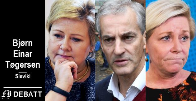 Partilederne Erna Solberg, Jonas Gahr Støre og Siv Jensen får høre hvorfor de gikk tilbake ved valget.