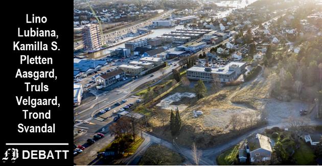 Tomta til nye Onsøyheimen ligger klar, men det betyr ikke at det byggeklart. De fire borgerlige politikerne mener de er satt i en knipe fordi den politiske ledelsen ikke har sørget for å sette i gang reguleringsarbeidet som åpner for å bygge et høyere sykehjem enn det gamle.