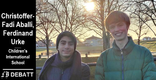 Christoffer-Fadi Aballi og Ferdinand Urke tar opp mange sider ved det være fattig i oppgaven de her deler med FB-lesere.