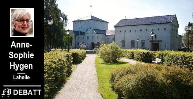 –  Stort, monumentalt og sentralt i byen ble Fredrikstad bibliotek bygget for fremtiden, skriver Anne-Spohie Hygen. Både bygningen og parken er fredet.