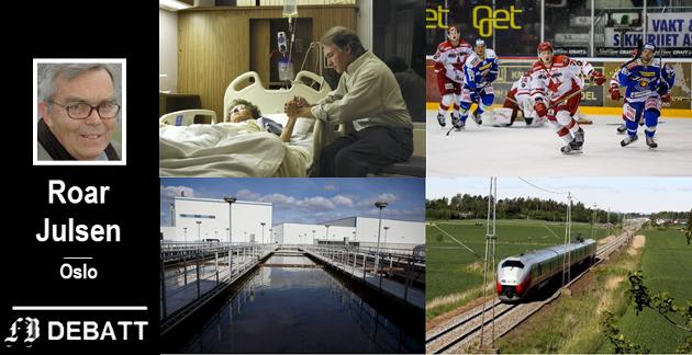 Foreslår fellesløsninger: Roar Julsen mener Sarpsborg og Fredrikstad burde finne felles løsninger for et nytt, regionalt sykehjem, en tidsmessig hockeyarena, renseanlegg og jernbanetrasé.