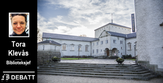 Trappa er første møte med Fredrikstad bibliotek – også for rullestolbrukere.