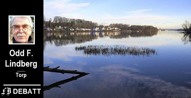 Idyll for fremtiden: Lindberg peker på området mellom Selbak og Nabbetorp som ekstra verdt å ta vare på. Bildet viser utsikten herfra til motsatt side av elven, der Lislebystranda er en vakker idyll.