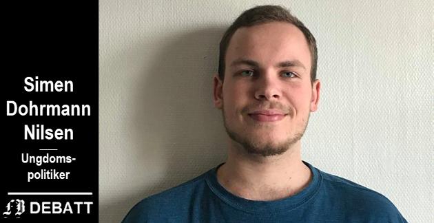 Simen Dohrmann Nilsen, nestleder i Nedre Glomma Sosialistisk Ungdom, Kråkerøy
