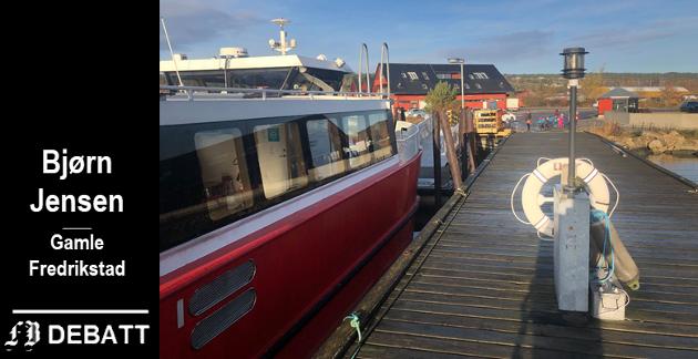 Byfergen får Ålekilen som endestasjon i stedet for Gressvik. Bjørn Jensen reagerer for egen del på et dårligere pendlertilbud, og  at endringen i tillegg til færre avganger til turistattraksjonen Gamlebyen.