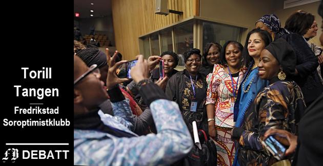 – Over hele verden brukes dagen til å rette søkelys mot kvinners rettigheter og kampsaker, heter det i innlegget. Bildet fra FNs kvinnekommisjon som ifølge Wikipedia er den viktigste internasjonale møteplass for diskusjon om kvinners rettigheter.
