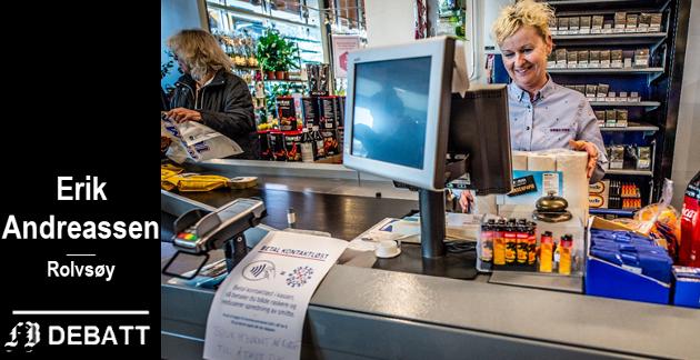 – Jeg er stolt over å kunne bidra når ting faller litt sammen, sa Jane Marie Stene hos Rema 1000 i Østsiden Storsenter da FB intervjuet flere ansatte i dagligvarehandelen om  at smittefaren gjør jobben utsatt.