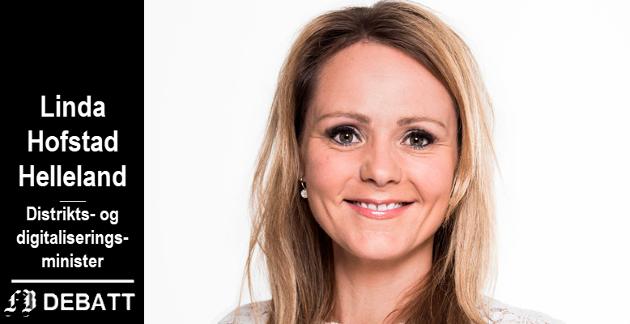 Linda Hofstad Helleland: – Norge er blant landene med best internettdekning i hele verden. Det skyldes ikke minst at de private aktørene bygger ut for nærmere ti milliarder kroner årlig i mobil- og bredbåndsnett.