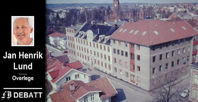 ST. JOSEPHS HOSPITAL 1970.   En siste utvidelse kom med fløyen mot øst og Cicignongata i 1965. Her ble det plass til moderne røntgenavdeling, laboratorium og fylkets første barneavdeling.