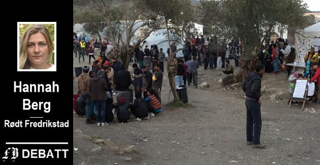 KRISEN I HELLAS: Initiativet til «Solidarity Cities» kommer fra ordføreren i Athen, byen har tatt imot mange av flyktningene som kommer til øya Lesvos, hvor dette bildet er tatt. Hannah Berg mener dette er et lokalt anliggende også i Fredrikstad.