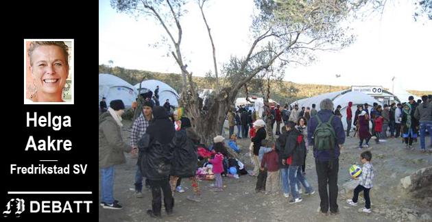 MORIA-LEIREN: – I flyktningeleiren på Moria, som er bygget for å huse 3000, bor det 20.000 mennesker. Hjelpearbeidere som har vært i leiren rapporterer om umenneskelige forhold, appellerer Helga Aakre.