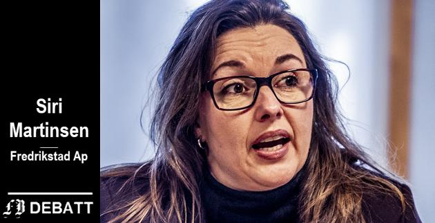 – Paradoksalt nok var Høyre for kort tid siden imot at Fredrikstad skulle ha et næringsfond, nå er de for at vi skal bruke næringsfondet til tiltak i andre kommuner, skriver Siri Martinsen.