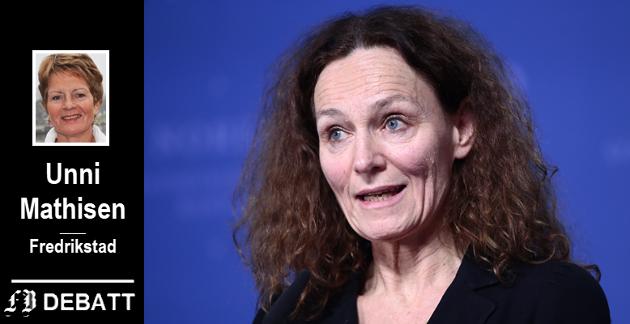 Brevforfatter Unni Mathisen har tillit til rådene fra direktør Camilla Stoltenberg i Folkehelseinstituttet.