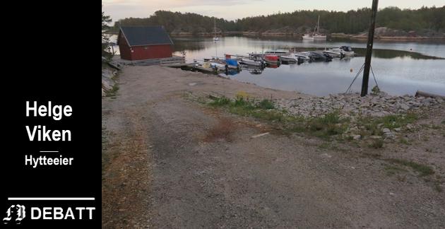 En flytebrygge er på plass i Nesebukta på Vesterøy og det er planer om å utvide med mange flere, til frustrasjon for brevforfatter Helge Viken.