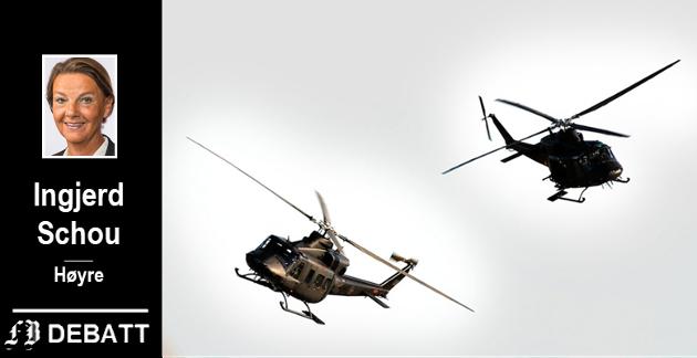 – I 2024 begynneranskaffelsen av nye helikoptre til spesialstyrkene på Rygge, opplyser Schou.