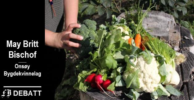 – Det er positivt at det er økende interesse for å dyrke grønnsaker i egen hage, i kasser, parseller og på balkonger, skriver Bischof.
