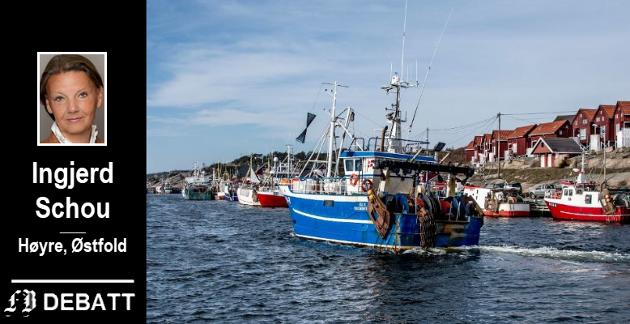 – Mulighetene finnes i havbruk som vi kjenner det, men også i nye former for havbruk, skriver Ingjerd Schou som forteller at hun merket optimisme også hos fiskere i Utgårdskilen.