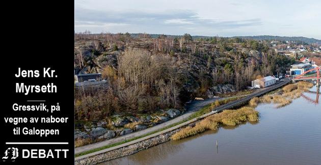 Det er to områder på Galoppen der bebeoerne ikke vil endre formål til boligbygging, det ene ligger ned mot på Floa-brua (bildet), det andre mot Storveien.