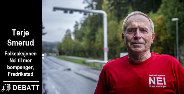 – For å ivareta de turistene og innbyggerne som har vært gjennom den koronakrisen, så krever FNB Fredrikstad, det blir gjort noe med bompengeinnkrevingen. , skriver Terje Smerud.