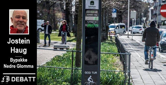 OPPFORDRING: - Vi i Bypakka setter sykkelen på hedersplass i dag – setter du deg på sykkelsetet? Jeg ønsker deg en trygg og god sykkelsommer!, skriver Jostein Haug.