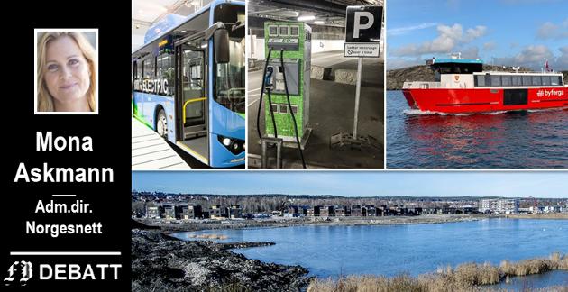 Bidragstyrere når Fredrikstad få ned klimautslippene ved at elektrisitet erstatter fossil brensel: Buss som går på strøm, effektiv lading, flere elektriske fartøyer og Verksbyen som beskrives som «et kinderegg» av gode klimaløsninger.