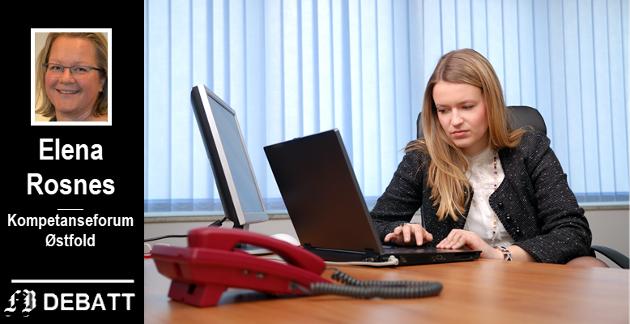 – Bedrifter søker i størst grad tilskudd for å styrke ansattes digitale ferdigheter, heter det i innlegget fra Elena Rosnes.