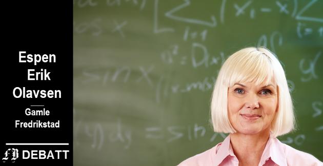 Ikke bare matte: – Lærere skal lede en klasse med fra 20 til 30 elever. Da må de ta en leders ansvar og vise gjennomføringsevne, mener Olavsen.
