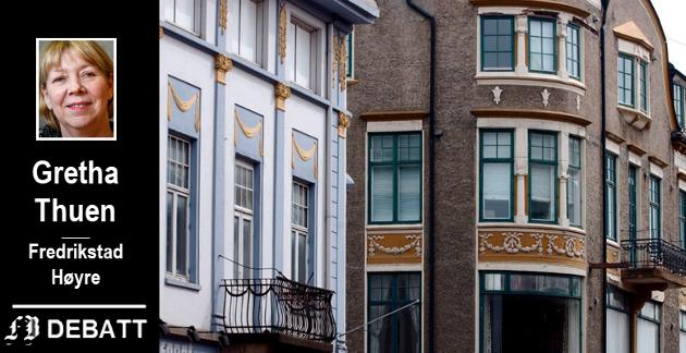 – Det er trist at byutviklingsprosjekter og turistbrosjyrer knapt nevner denne arkitekturen, skriver Thuen om jugendstilen, her fra  Storgata 20 (til venstre) og 18, bygningnene som i dag huser Mother India og Gaarder sykkelsport.