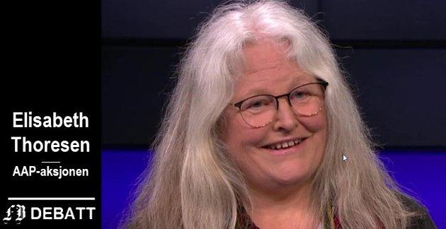 Elisabeth Thoresen, leder av AAP-aksjonen, Drammen