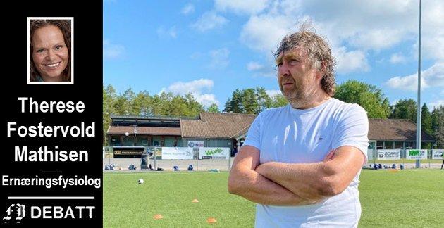 Brevforfatteren henvender seg til Knut Erik Berg, fotballeder i Råde IL, men passer samtidig på å adressere oppfordringen om å gå over til sunnere mat til hele Østfold idrettskrets.