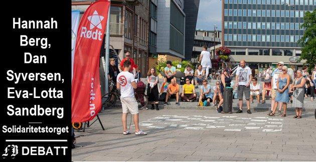 Fra Mangfoldsdagen på Fiskebrygga i Fredrikstad sentrum 29. juli 2019. Årets arrangement er flyttet til Gamlebyen kulturhus.