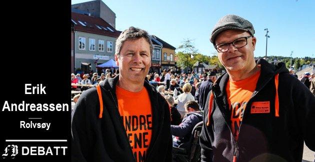 Per Christian Skauen og Lasse Imrik i Kirkens Bymisjon blir utfordret til å fortelle hvor lite man skal ha utbetalt i måneden for å bli klassifisert som fattig.