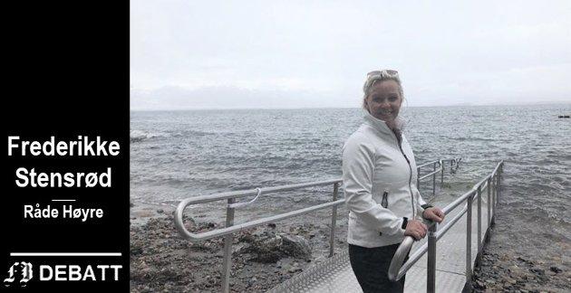 Frederikke Stensrød anbefaler den nye baderampen.