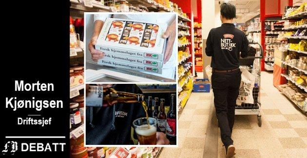 Lokale eksempler på etterspurte produkter som er utviklet i vårt distrikt: Desserter fra Eks gårdskjøkken og øl fra Nøisom bryggeri.
