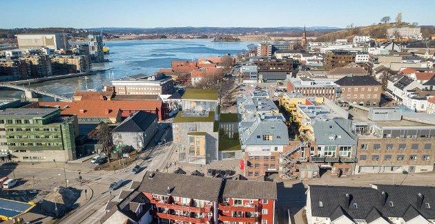 PROTEST: Over hele landet protesterer folk på arkitektur de ikke mener er bra for lokalsamfunnet. Planene for Nedre Langgate 19 i Tønsberg har også vakt reaksjoner.